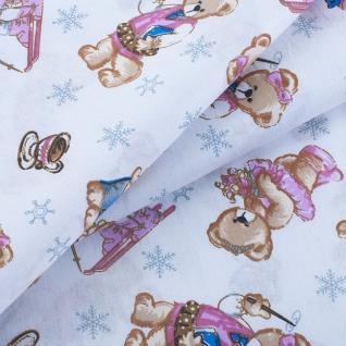 Ткань на отрез 1800 поплин детский «Мишата»