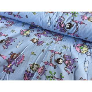 Ткань 1805-1 поплин детский «Маленькие принцессы»