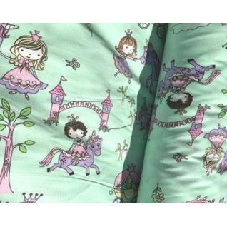 Ткань на отрез 1805-2 поплин детский «Маленькие принцессы»