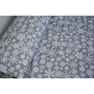 Ткань на отрез  1827-17 поплин детский «Снежинки»