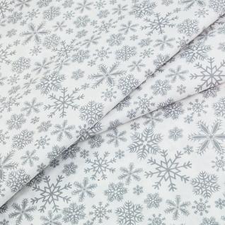 Ткань на отрез 1827а-17 «Снежинки»