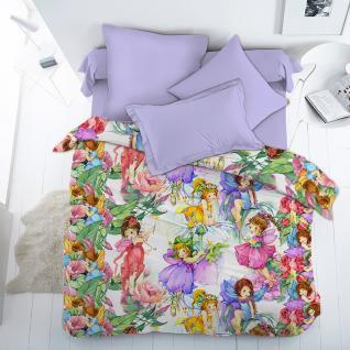 Ткань на отрез поплин 4617 «Цветочные феи»