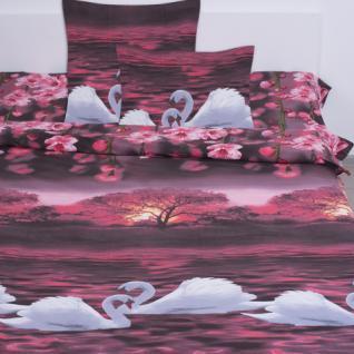 Ткань поплин 11874 «Лебеди»