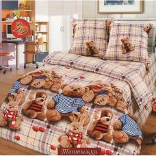 Детское постельное белье  Топтыжки 1,5 сп. поплин