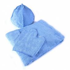 Набор для сауны мужской цв. голубой
