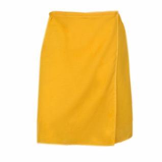 Вафельная накидка на резинке для бани и сауны, женская, цвет желтый