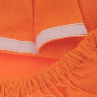 Вафельная накидка на резинке для бани и сауны, женская, цвет оранжевый