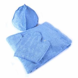 Набор для сауны женский цв. голубой