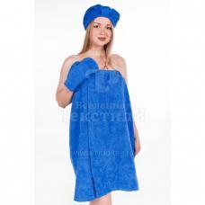 Набор для сауны женский цв. синий