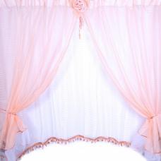 Шторы Розочка 300/175 см цвет персик