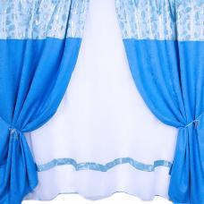 Шторы Анастасия 300/170 см цвет голубой