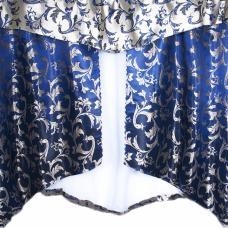 Шторы Мария 280/170 см цвет синий