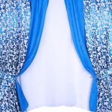 Шторы Прима 270/170 см цвет голубой