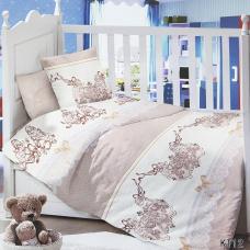 Постельное белье в детскую кроватку KT12 сатин