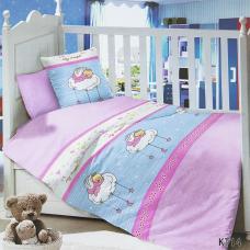 Постельное белье в детскую кроватку KT14 сатин
