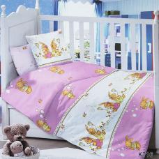 Постельное белье в детскую кроватку KT16 сатин