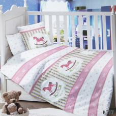 Постельное белье в детскую кроватку KT17 сатин