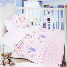 Постельное белье в детскую кроватку KT26 сатин