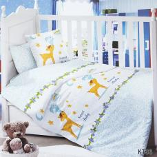 Постельное белье в детскую кроватку KT33 сатин