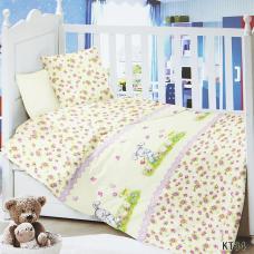 Постельное белье в детскую кроватку KT34 сатин