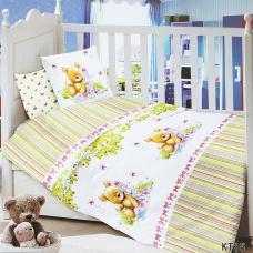 Постельное белье в детскую кроватку KT35 сатин