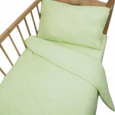 Постельное белье в детскую кроватку Салатовый сатин