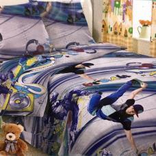 Детское постельное белье 1643 1,5 сп. поплин