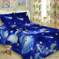 Детское постельное белье 1716 1,5 сп. поплин
