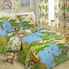Детское постельное белье 1586 1,5 сп. поплин.