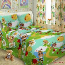 Детское постельное белье 1616 1,5 сп. поплин.