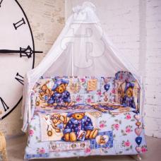 Набор в кроватку 6 предметов с оборками Мишка прованс