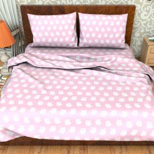 Постельное белье бязь №1682/2 Стандарт цвет розовый 1,5 сп.