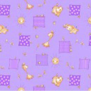 """Постельное белье в детскую кроватку №366/5 """"Жирафики"""" цвет фиолетовый"""
