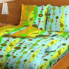 Постельное белье бязь эконом Бисер зеленый 3144, 1,5 сп.