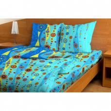 Постельное белье бязь эконом Бисер голубой 3144, 1,5 сп.