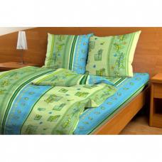 Постельное белье бязь эконом Гербарий зеленый 3659, 1,5 сп.