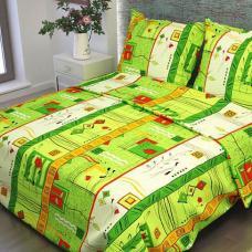 Постельное белье бязь  рис. 133-2 Стамбул зеленый, Стандарт 1,5 сп.