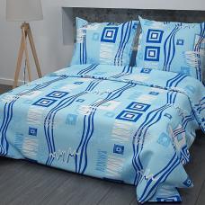 Постельное белье бязь  рис. 348-1, Голубой, Стандарт 1,5 сп.