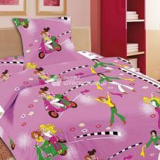 Детское постельное белье Подружки 1,5 сп. поплин.