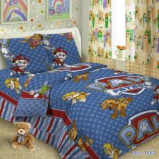 Детское постельное белье Щенячий патруль 1,5 сп. поплин.