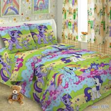 Детское постельное белье  1,5 сп. поплин.