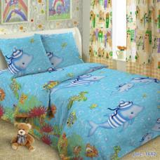 Детское постельное белье Океан 1,5 сп. поплин.