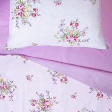 Постельное белье ситец Шуя Розовый букет 1,5 сп.