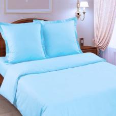 Постельное белье Голубой сатин, 1,5 сп