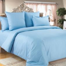 КПБ Страйп-сатин полоса Голубой 1,5 спальный (2 наволочки 70*70)