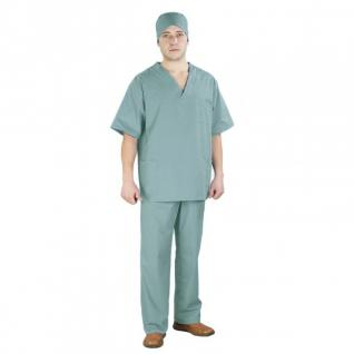 "Костюм ""Хирург"", рукав короткий, бязь набивная 100% хлопок ГОСТ, 52-54, рост 172-176 Копия"