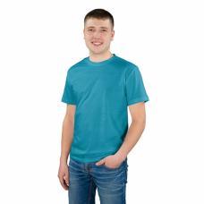 Мужская однотонная футболка цвет Синий р,48