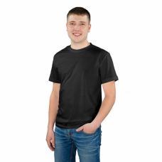 Мужская однотонная футболка цвет Черный р,48