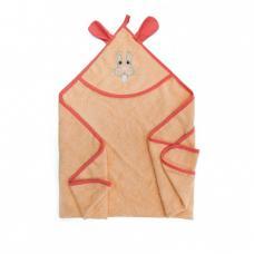 Уголок детский махровый с вышивкой персиковый