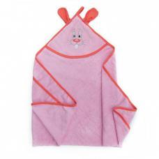 Уголок детский махровый с вышивкой розовый
